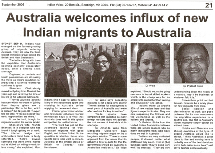articles concerning aussie immigration